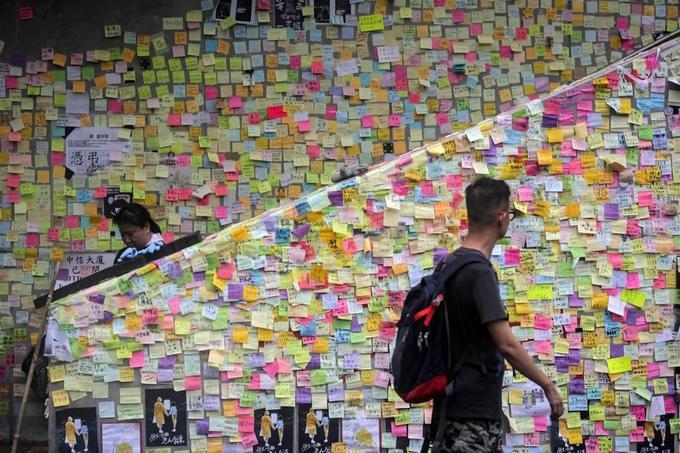 Dans une rue de Hongkong, le 2 juillet.