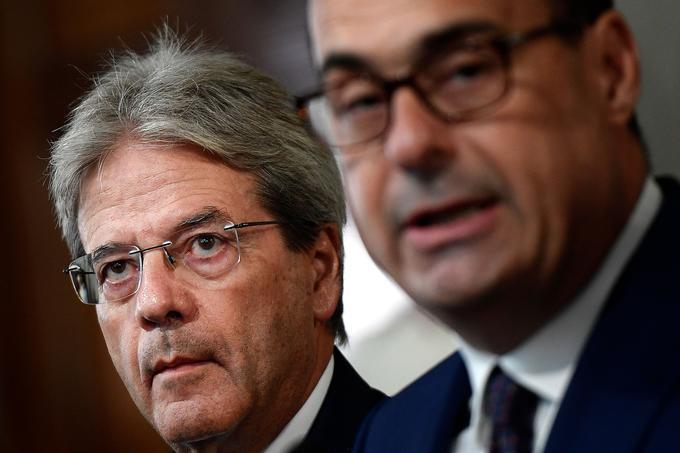 Paolo Gentiloni, à gauche, nouveau commissaire à l'économie.