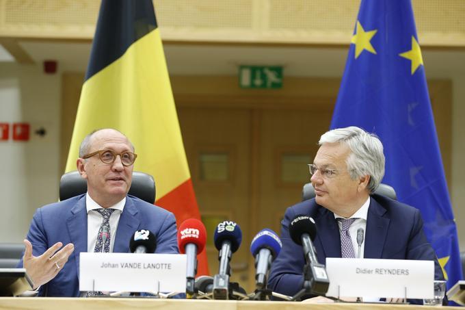 Didier Reynders, à droite de la photo, le 9 septembre.