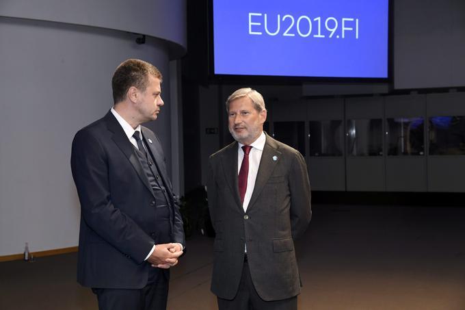 Johannes Hahn, à droite, le 29 août 2019.