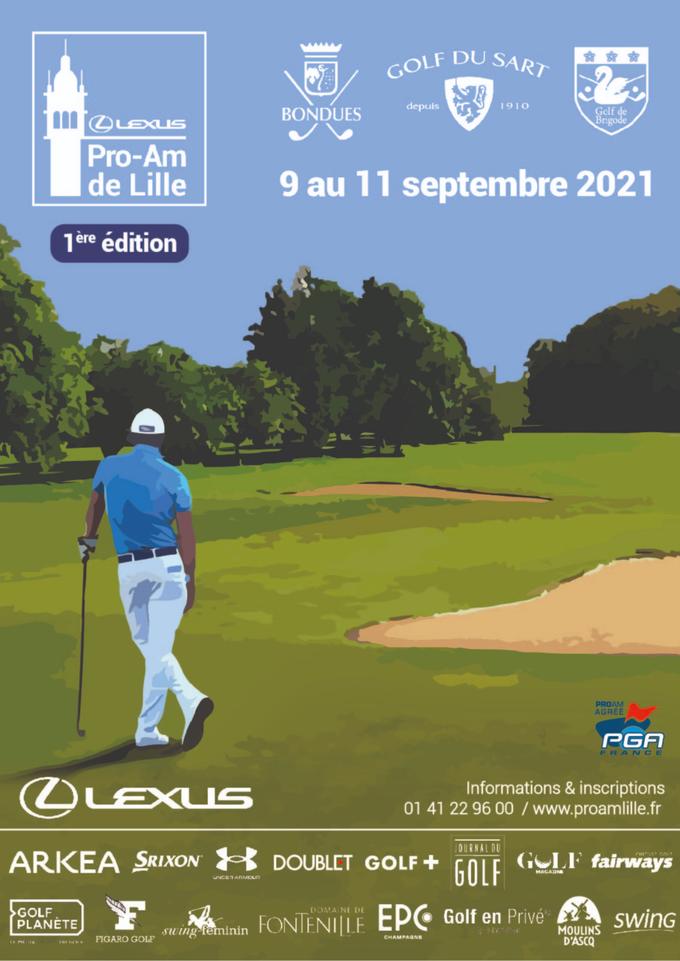 L'affiche officielle du Pro-Am de Lille 2021.