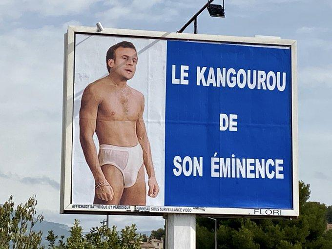 Macron en «slip kangourou» : nouvelle récidive de l'afficheur du Var