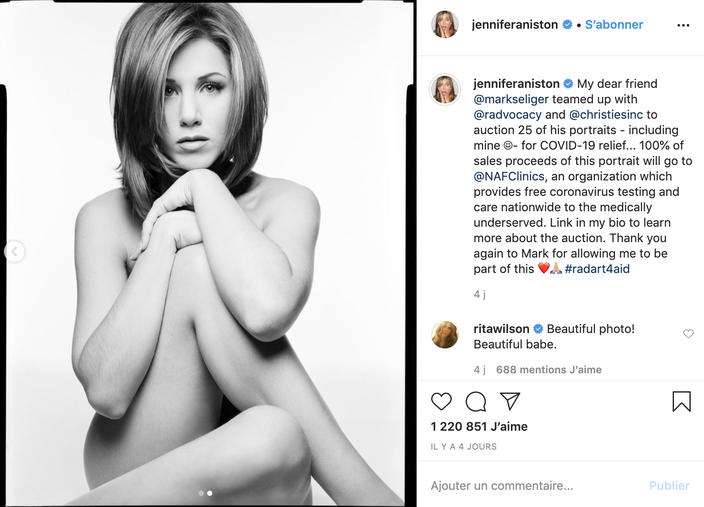 Un portrait nu de Jennifer Aniston mis aux enchères pour lutter ...