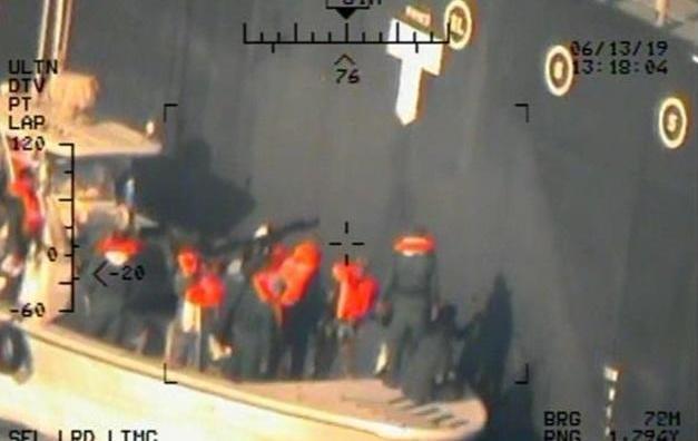 Capture d'écran de la vidéo postée par le Pentagone.