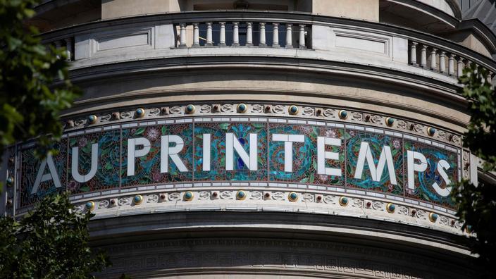 Il negozio Printemps sul Boulevard Haussmann, a Parigi, 28 maggio 2020.