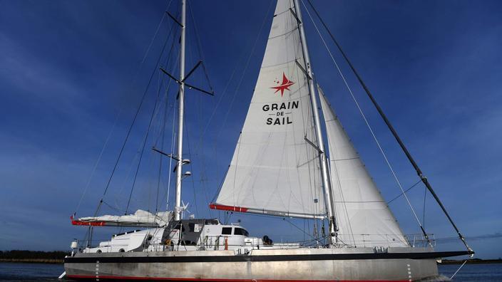 Arrivée à Nantes du cargo à voiles «Grain de Sail» après sa première transatlantique - Le Figaro