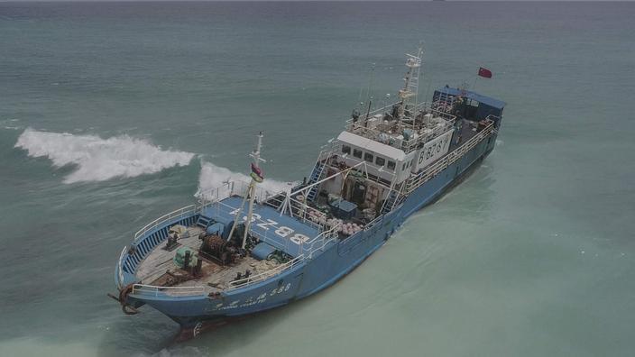 Chalutier échoué à l'île Maurice : aucune fuite de carburant pour le moment