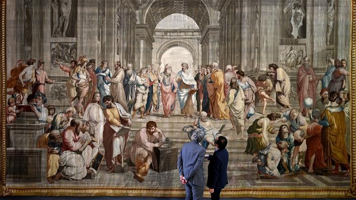 La tapisserie L'École d'Athènes prêtée par la France à la Grèce pour la première fois