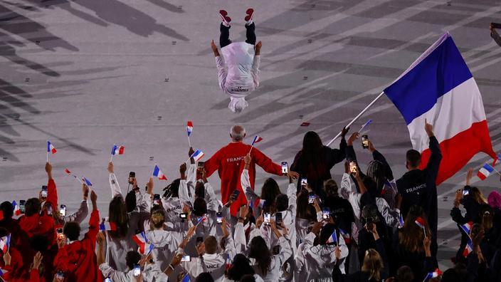 Avec le salto d'Aït Saïd, les Français ont fait le show lors de la cérémonie d'ouverture des JO