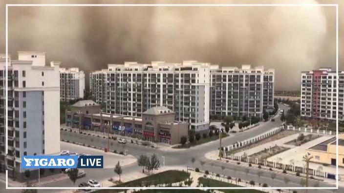 En Chine, une impressionnante tempête de sable «avale» une ville