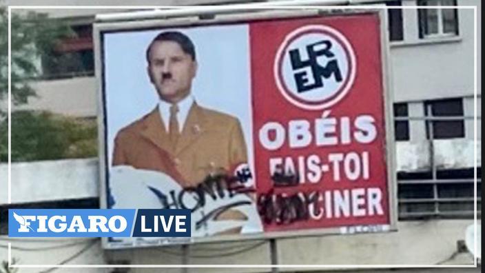 Représentation d'Emmanuel Macron en Hitler: le chef de l'État porte plainte contre l'auteur