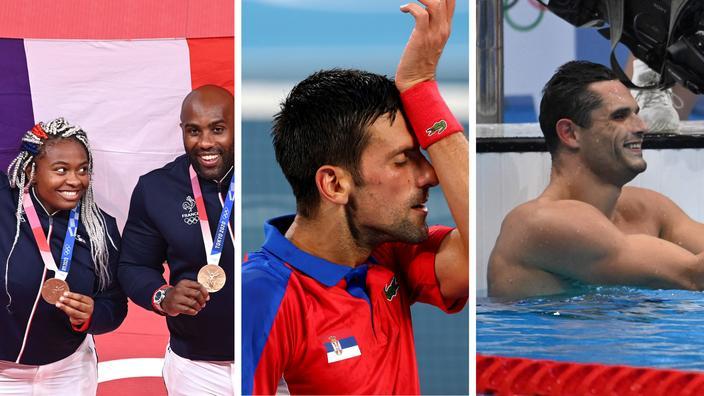Les médailles de Riner et Dicko, les déboires de Djokovic, la qualification de Manaudou... ce qu'il faut retenir de la journée de vendredi à Tokyo