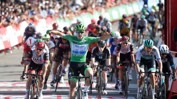 Vuelta : Jakobsen voit triple, Eiking toujours en rouge