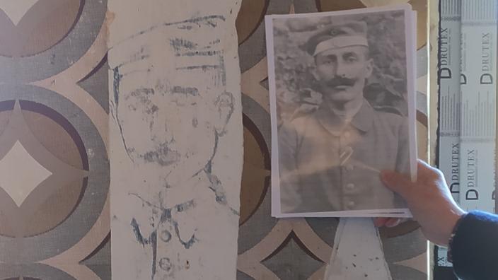 Un portrait de soldat allemand de la Grande Guerre ressurgit dans une maison des Vosges