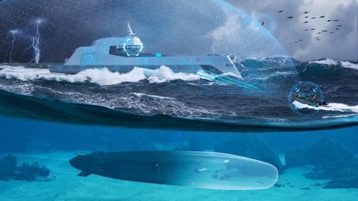 Naval Group présente un prototype de grand drone océanique sous-marin