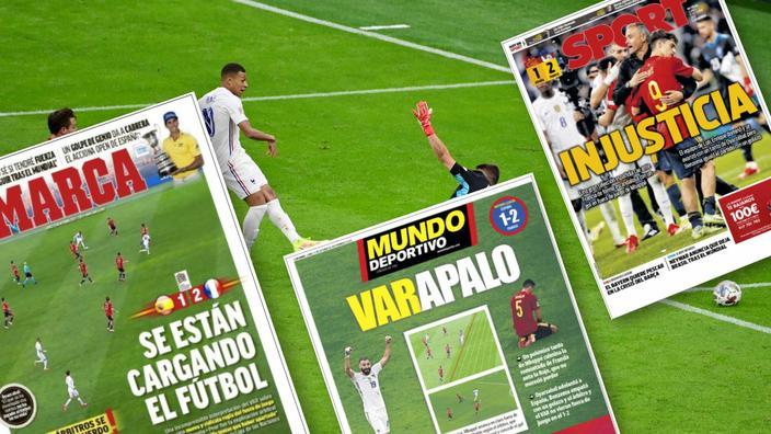 «Injustice», «ils bousillent le foot» : L'Espagne crie au scandale après le but de Mbappé