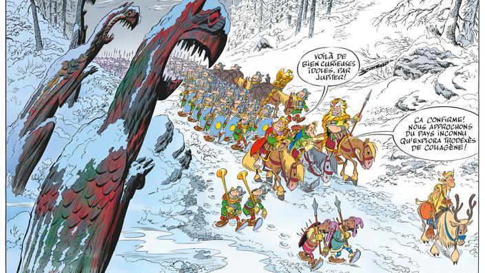 Astérix et le Griffon, Michel Houellebecq au service de César