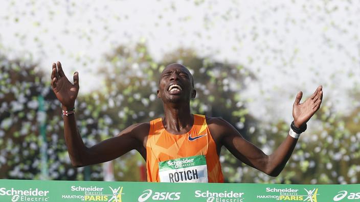 Marathon de Paris : Victoire et record de l'épreuve pulvérisé pour le Kenyan Rotich