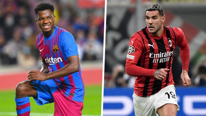 Regarder la vidéo Le journal du mercato : Ansu Fati «proche» de prolonger au Barça, l'AC Milan tient à Théo Hernandez