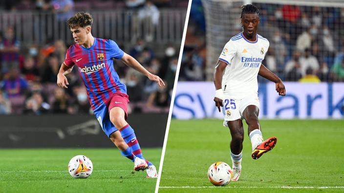 Barcelone-Real Madrid : Gavi-Camavinga symboles d'une jeunesse (très) ambitieuse