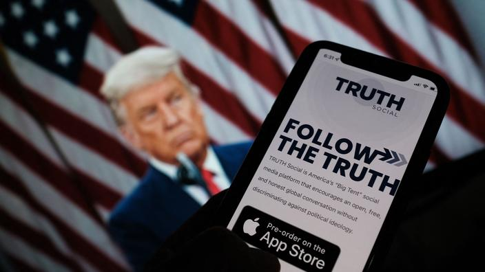 Le futur réseau social de Donald Trump flambe à Wall Street