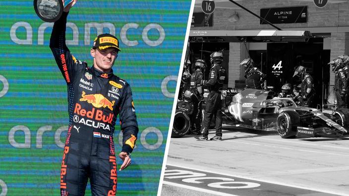 Regarder la vidéo Tops/Flops GP des États-Unis : le coup de maître de Verstappen, le zéro pointé d'Alpine