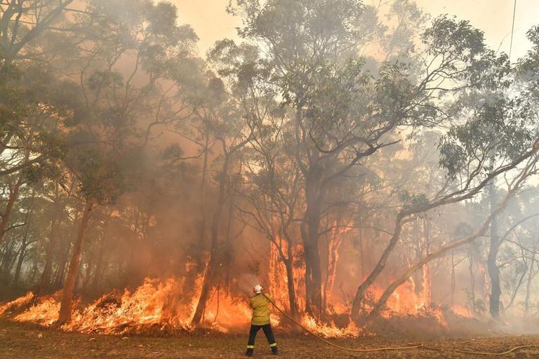 Des milliers de pompiers luttent contre les flammes.