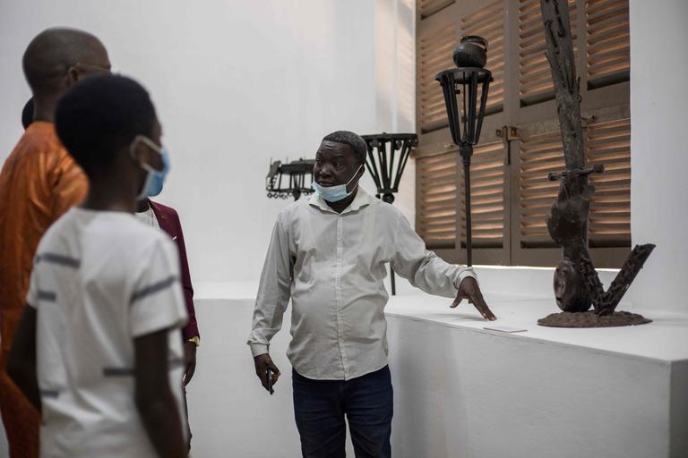 Plusieurs œuvres du Musée d'Histoire ont été transférées dans une exposition temporaire à la Maison du Brésil de Ouidah.