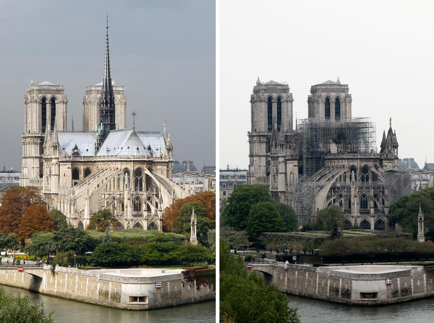 AVANT/APRÈS : l'étendue des dégâts après l'incendie de Notre-Dame ...