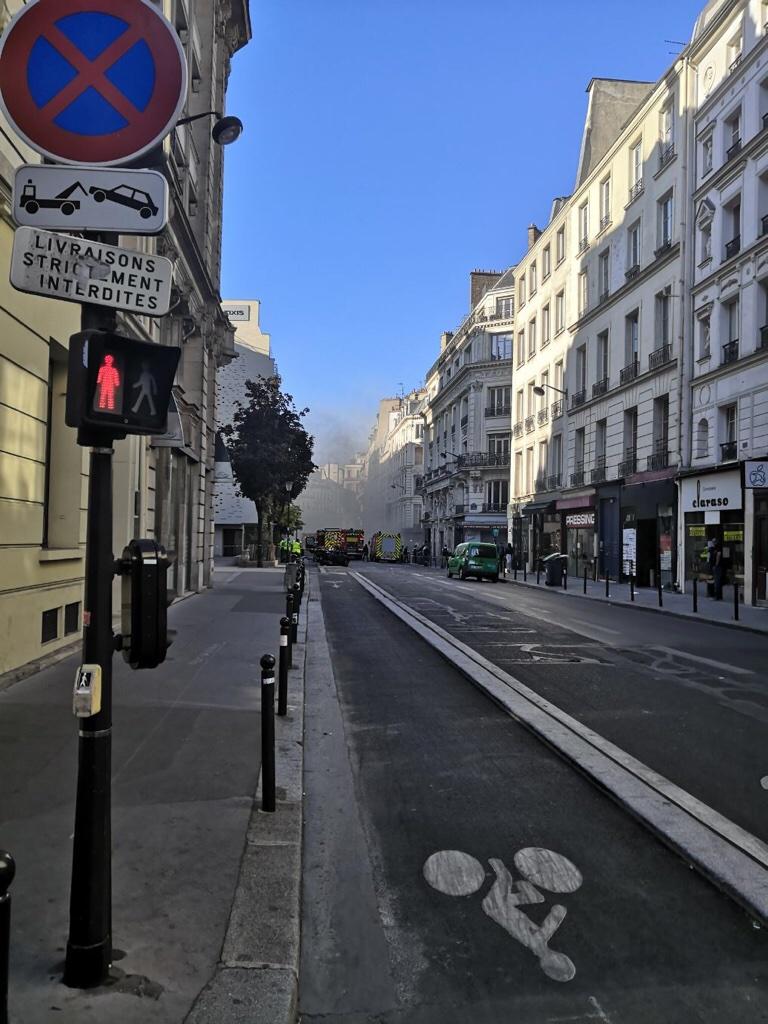 Paris : un feu rue Montmartre, dans le IIe arrondissement