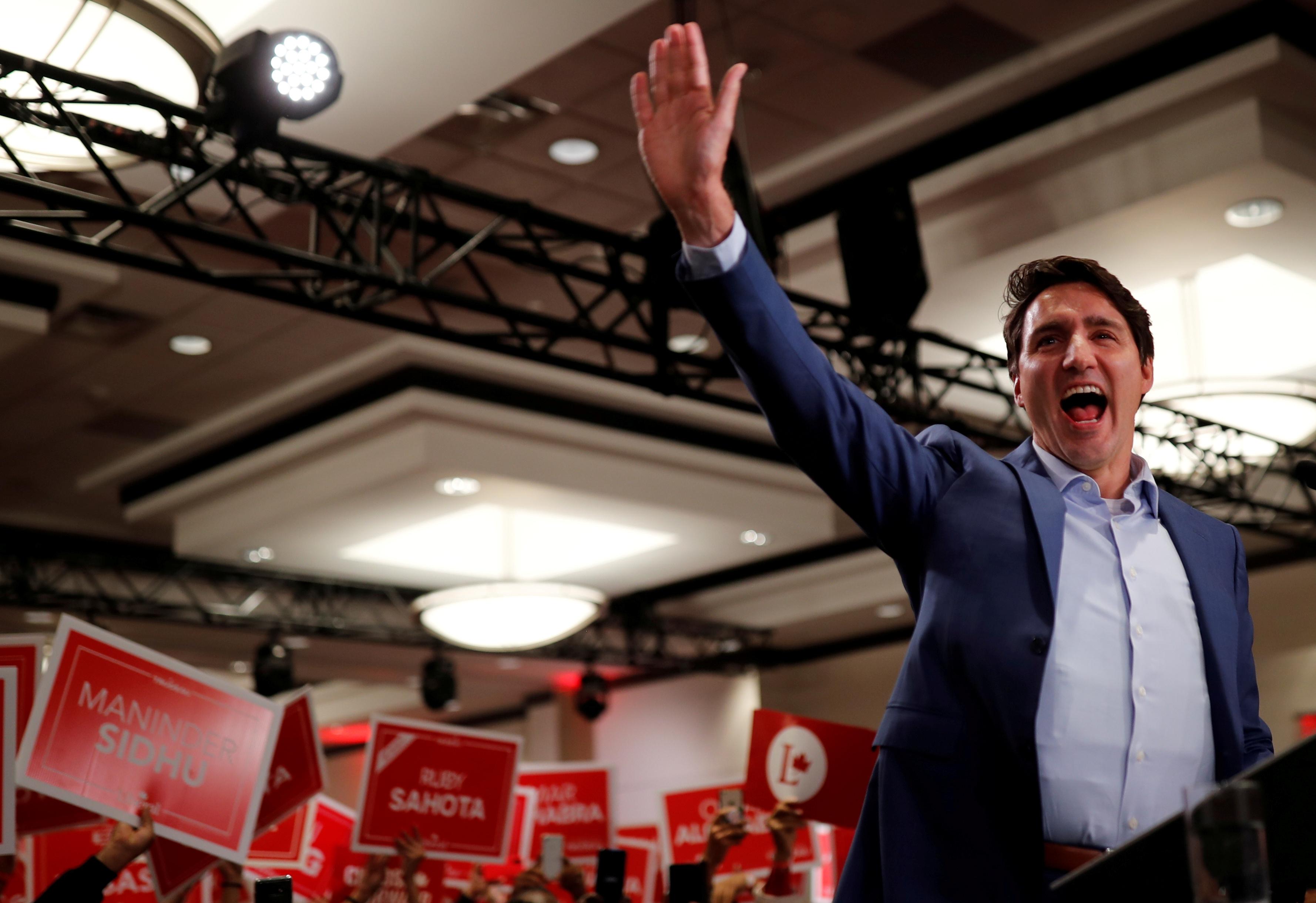 Canada : Trudeau en gilet pare-balles lors d'un meeting
