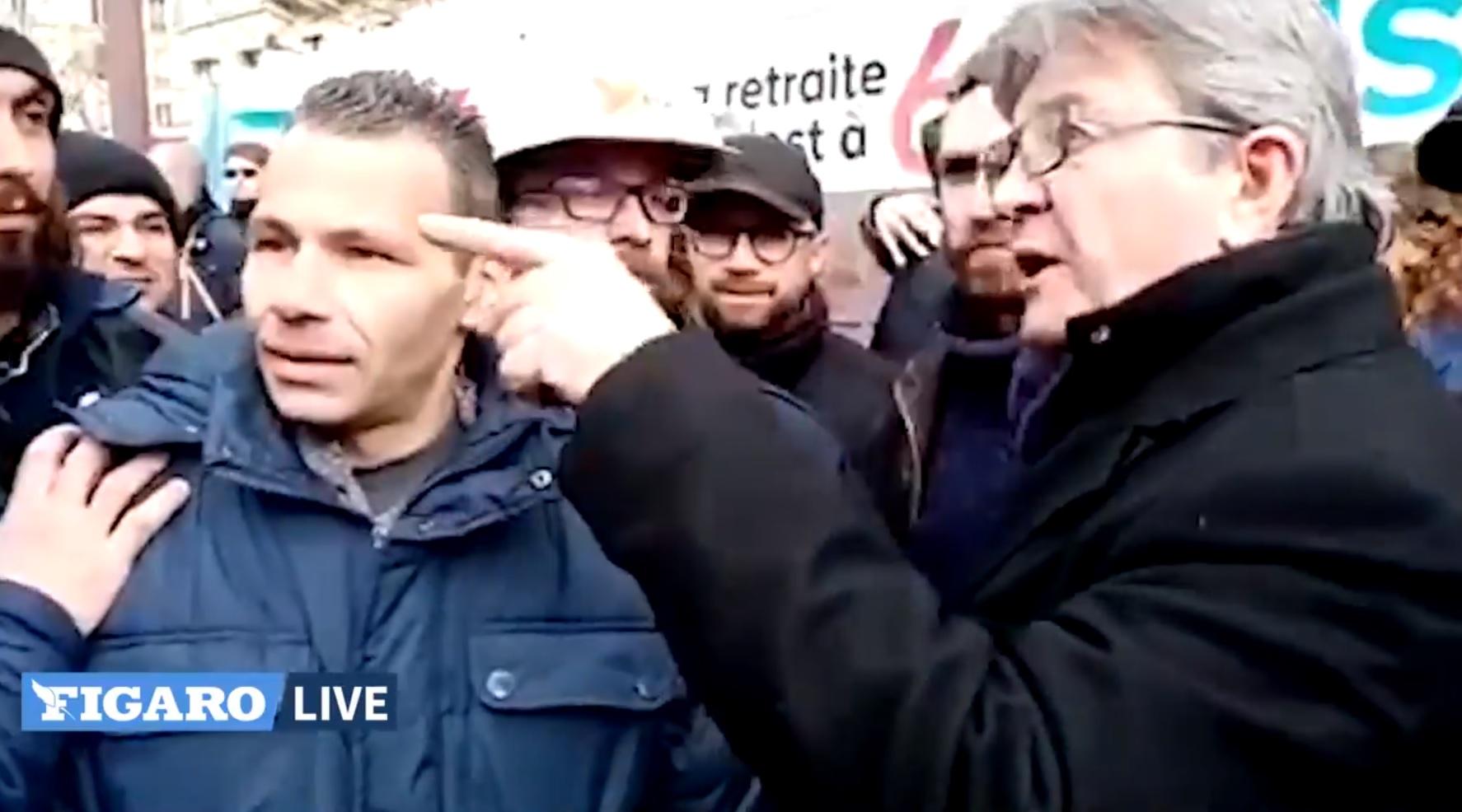 «Va voir ta mère» : Jean-Luc Mélenchon perd ses nerfs contre un manifestant