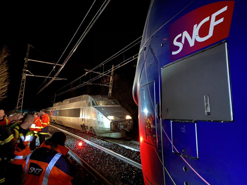 Tempête Dennis : un TGV met 15 heures pour relier Nantes à Paris