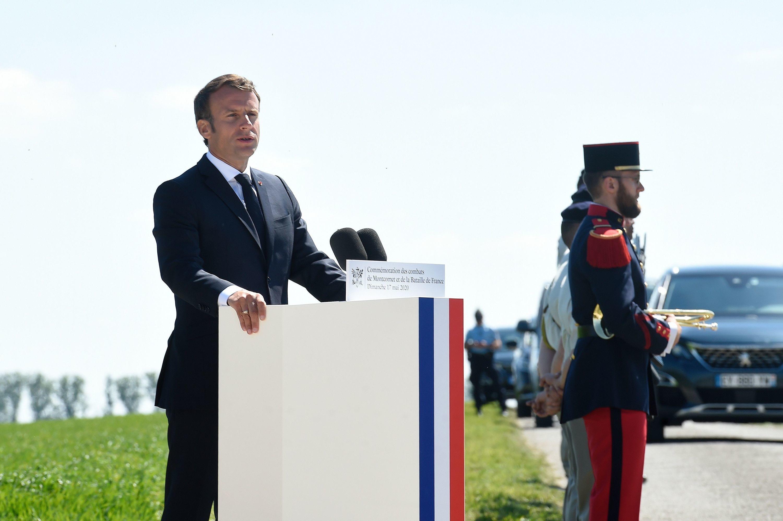 À Montcornet, Macron honore de Gaulle et célèbre «l'esprit français»