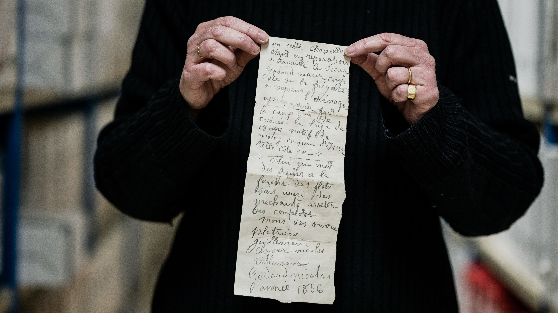 À Dijon, découverte dans une chapelle d'un troublant message écrit il y a 165 ans
