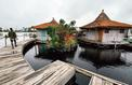 L'«île flottante», un coin de paradis fait de déchets plastiques près d'Abidjan