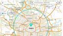La carte interactive officielle qui calcule le rayon de 20 km autour de chez soi
