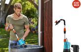 Essai : la pompe d'arrosagegardena 2000/2Li-18, de l'eau de pluie bien utilisée