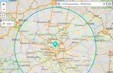 La carte interactive officielle qui calcule le rayon de 100 km autour de chez soi