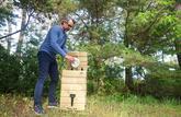 Je construis un composteur en bois