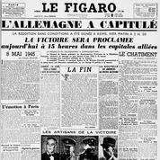 8 mai 1945: La capitulation de l'Allemagne à la une du Figaro