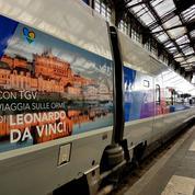 Léonard de Vinci dans le TGV Paris-Milan