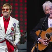 Elton John et Joan Baez au Montreux Jazz Festival pour leur tournée d'adieux