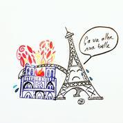 Notre-Dame de Paris: les hommages en dessins à la cathédrale ravagée par les flammes