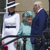 Donald Trump à Londres en majesté