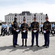 Avec les gendarmes de la promotion Colonel Beltrame, prêts à servir