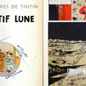 Un album de Tintin signé par l'équipage d'Apollo 11 aux enchères