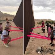 Des artistes transforment le mur entre les États-Unis et le Mexique en aire de jeux pour enfants