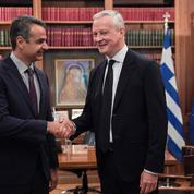 Étape politique pendant les vacances grecques de Bruno LeMaire