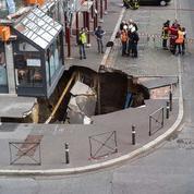 Un trou géant s'est brutalement ouvert dans le sol à Amiens
